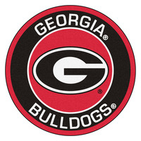 Main university of georgia bulldogs roundel 27inch round area rug