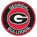 Thumb university of georgia bulldogs roundel 27inch round area rug