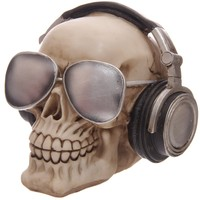 Main skull moneybox with headpones sunglasses 4