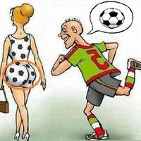 Main funny cartoon footballer