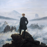Main the wanderer above the sea of fog