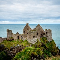 Main antrim coast road northern ireland dunluce castle 1