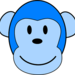 Thumb very blue monkey hi