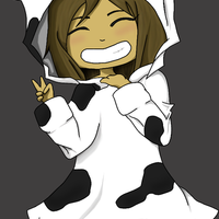 Main chibi me    cow   with bg   by nilopher