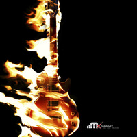 Main guitar on fire