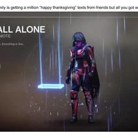 Main all alone