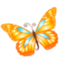 Thumb butterfly orange icon