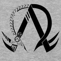 Main alpha omega symbol t shirts