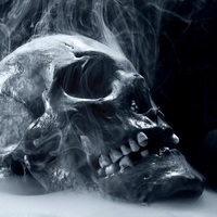 Main skull smoke blue scary death 8033 2048x2048 half size
