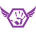 Thumb avatar   hexagon wings palm purple