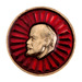 Thumb lenin pin  red lotus