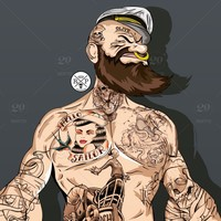 Main stock photo digital art cartoon design tattoo comic ink beard tattoos artist 18b37c5a cadc 4987 94a8 af67a14559dc