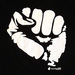 Thumb black power fist black